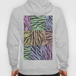Pastel Zebra Stripes Hoody