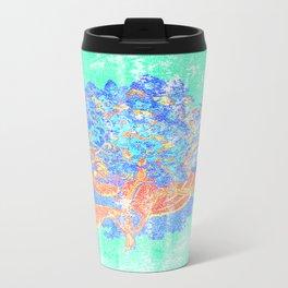 Distressed Hydrangea {green} Travel Mug