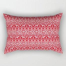 Fair Isle christmas sweater pattern greyhound dog lover perfect christmas festive gifts Rectangular Pillow