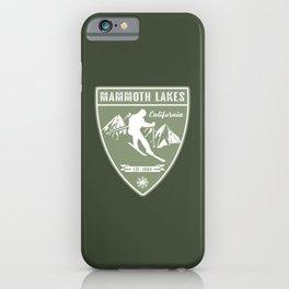 Ski Mammoth Lakes California iPhone Case