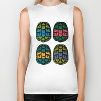 ninja turtles Biker Tanks featuring ninja shells by tama-durden
