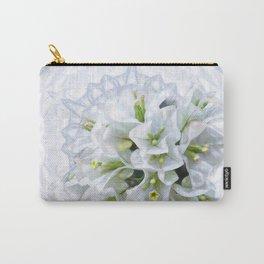 pretty bouganvillea on delicate kaleidoscope Carry-All Pouch