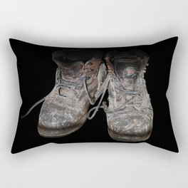 old shoes on black Rectangular Pillow