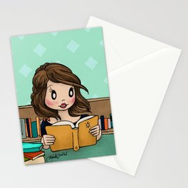 The Library is Infinity Under a Roof Stationery Cards