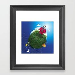 Green Peanuts World Framed Art Print