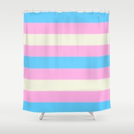 Transgender Pride Flag v2 Shower Curtain
