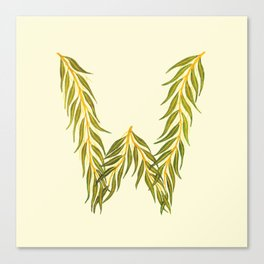 Leafy Letter W Canvas Print