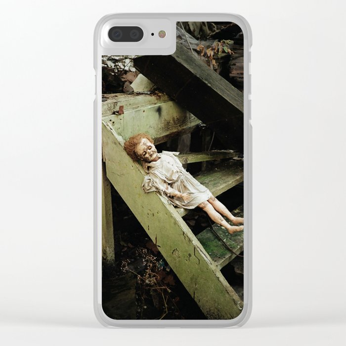 creepy doll Clear iPhone Case