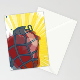 My Heart goes boom Stationery Cards