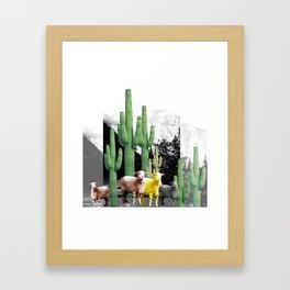 pecore Framed Art Print