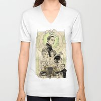 great gatsby V-neck T-shirts featuring the great nouveau gatsby by yo, sb!