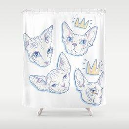 Sphynx Kitties Shower Curtain