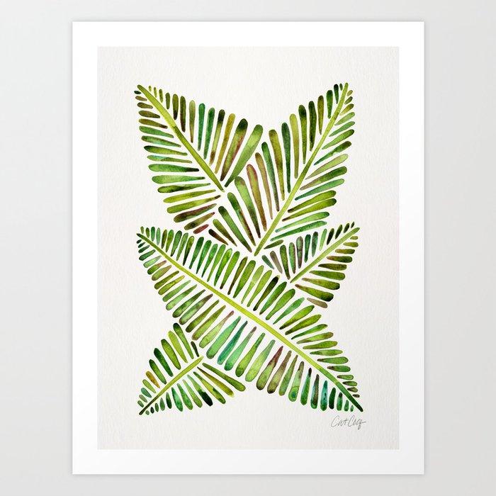 Tropical Banana Leaves – Green Palette Kunstdrucke