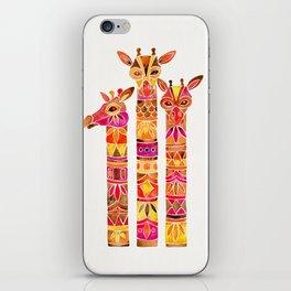 Giraffes – Fiery Palette iPhone Skin