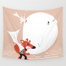 Fox and Whale Wall Tapestry