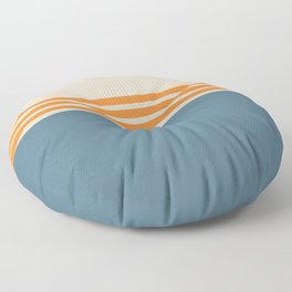 Modern Minimal Striped Blue 03 Floor Pillow