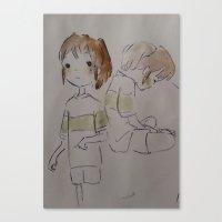 ghibli Canvas Prints featuring GHIBLI TRIBUTE by Gemma Ackerman