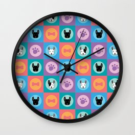Frenchies Wall Clock
