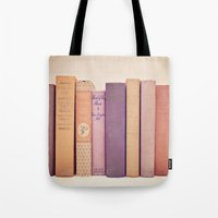 literary Tote Bags featuring Literary Gems II by Laura Ruth