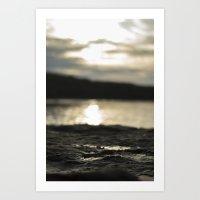 Sunset O'er the Water Art Print