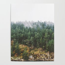 Foggy Vancouver Island Poster