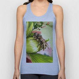 Wasp on flower 6 Unisex Tank Top