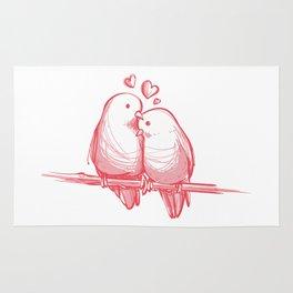 PINK LOVE BIRDS Rug
