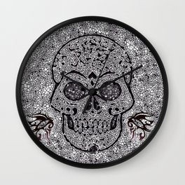 Mosaic Skull Wall Clock