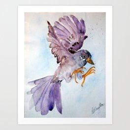 Lavender Bird Art Print