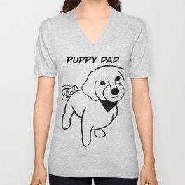Puppy Dad Unisex V-Neck