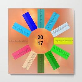 Calendar 2017 en easy star Metal Print