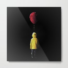 It Georgie Stained Glass Metal Print