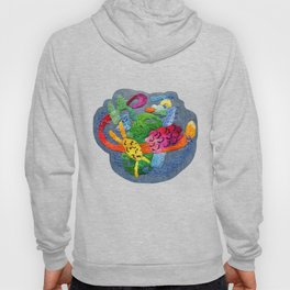 abstract embroidery Hoody