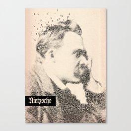 Inspired By Words — Frederich Nietzsche  Canvas Print