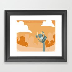 dust walking Framed Art Print