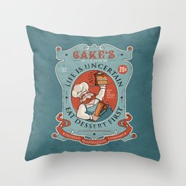 Dessert First Throw Pillow