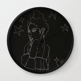 star girl inverse Wall Clock