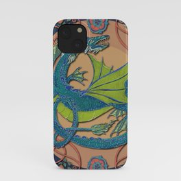 Celtic Medieval Water Dragon iPhone Case