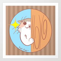 fat Art Prints featuring Fat Fat Peeks by Fat Fat