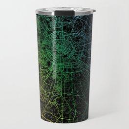 Chengdu, Sichuan, China, City, Map, Rainbow, Map, Art, Print Travel Mug