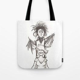 Edward Scissorhands Haircut Tote Bag