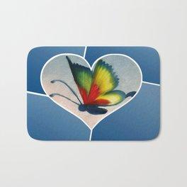 Butterfly Love - Blue Bath Mat