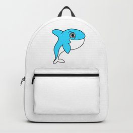 Lovely and funny whale drawing Backpack
