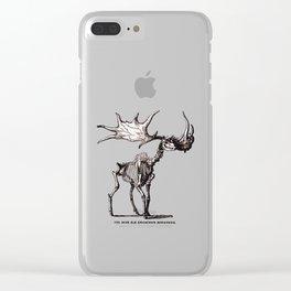 Irish Elk Skeleton Clear iPhone Case