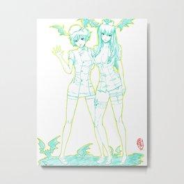 Morrigan and Lilith 03 Metal Print