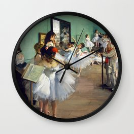 Edgar Degas - The Dance Class Wall Clock