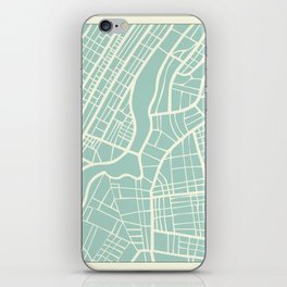 New York USA Map in Retro Style. iPhone Skin