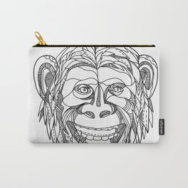 Humanzee Smiling Doodle Carry-All Pouch