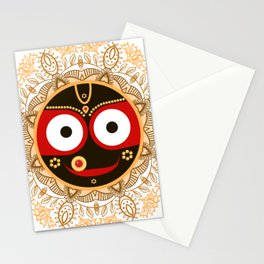 Jagannath. Indian God of the Universe. Lord Jagannatha. Stationery Cards