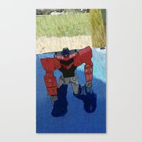 optimus prime Canvas Prints featuring Optimus by Tara Michele